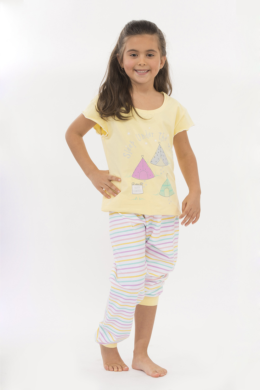 Hays Riviera Kız Çocuk Penye Şortlu Pijama Takımı - 5952 Koral