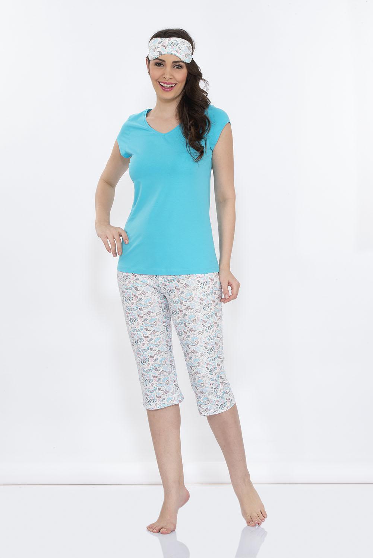 Hays Penye Kadın Kısa Kollu Üst Kapri Pijama Takımı