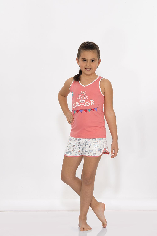Hays Kids Penye Kız Çocuk Kolsuz Şortlu Pijama Takımı
