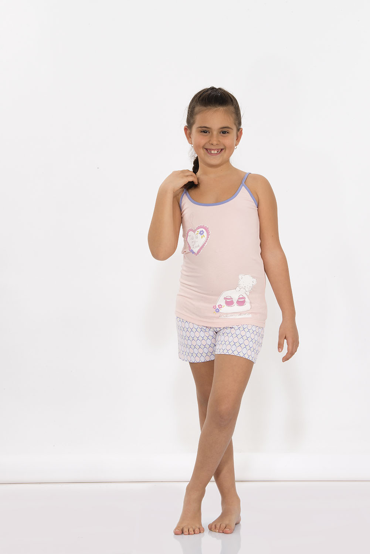 Hays Tria Kız Çocuk Penye Şortlu Pijama Takımı - 5950 Fuşya
