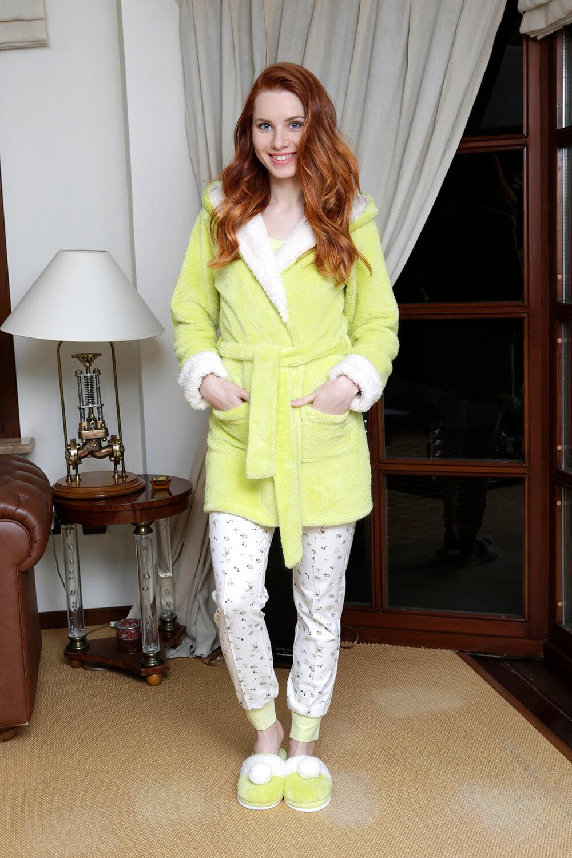 Hays Zuzu Wellsoft Sabahlıklı Penye 3lü Uzun Pijama Takımı