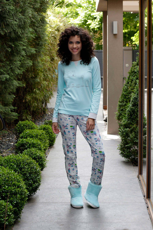 Hays Evia Penye Kadın 2li Uzun Pijama Takımı