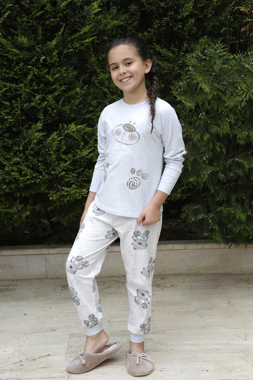 Hays Buongio Kız Çocuk Penye 2li Uzun Pijama Takımı