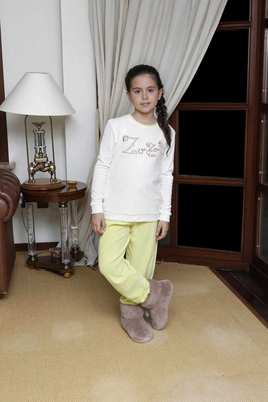 Hays Zuzu Kadife Kız Çocuk 2li Uzun Pijama Takımı