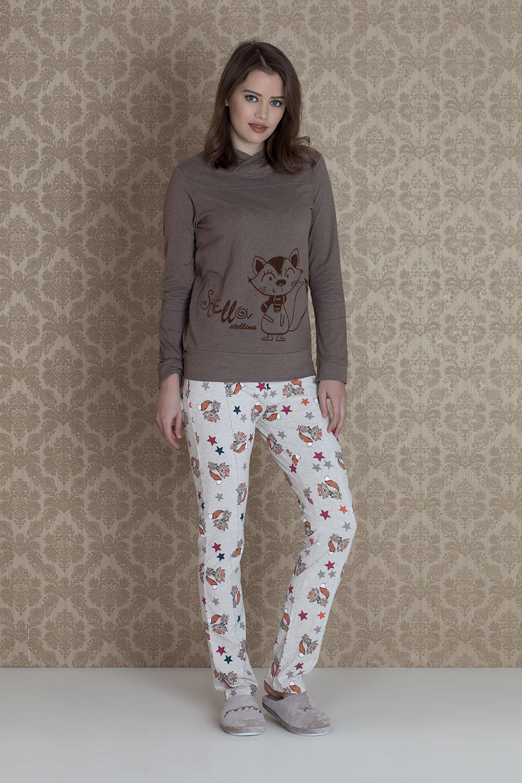 Hays Stellina Kadın Penye 2li Uzun Pijama Takımı