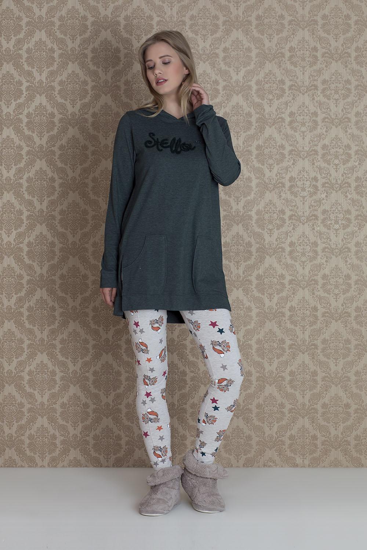 Hays Stellina Kadın Penye 2li Taytlı Pijama Takımı