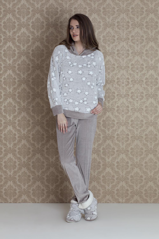 Hays Stellina Üst Wellsoft Alt Kadife Pijama Takımı
