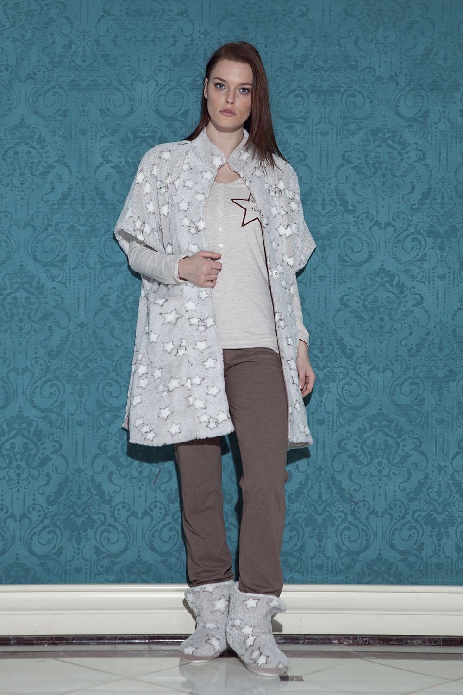 Hays Stellina Wellsoft Sabahlıklı 3lü Pijama Takımı