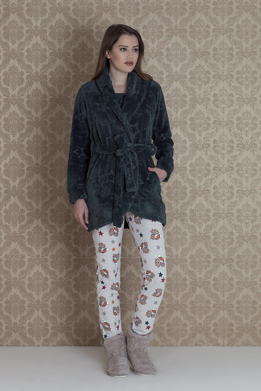 Hays Stellina Wellsoft Sabalıklı 3lü Pijama Takımı