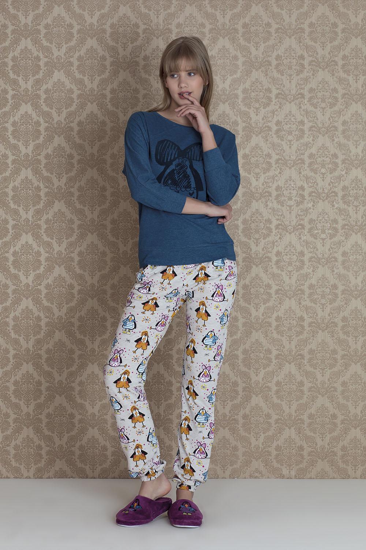 Hays Pingua Kadın Penye 2li Uzun Pijama Takımı