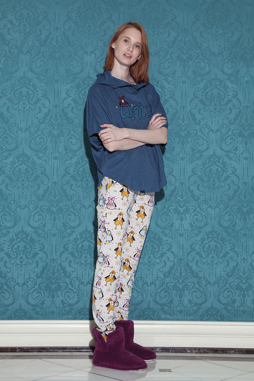 Hays Pingua Kadın Yarasa Kollu Uzun Pijama Takımı