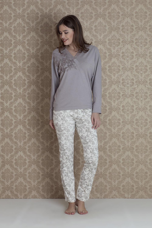 Hays Bloom Kadın 2li Uzun Pijama Takımı