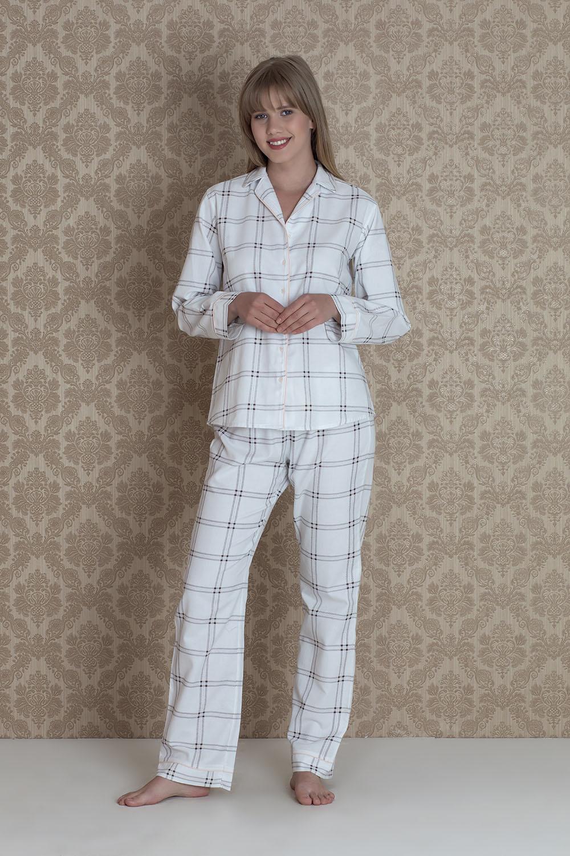 Hays Irene Kadın Ekose 2li Pijama Takım
