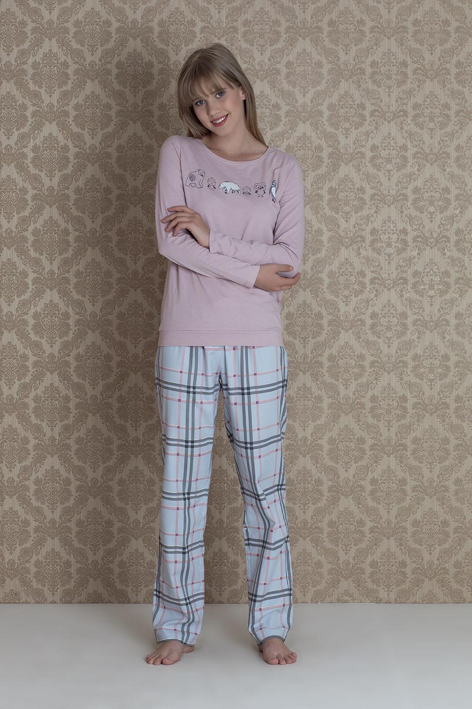 Hays Norda Kadın Ekose 2li Pijama Takım