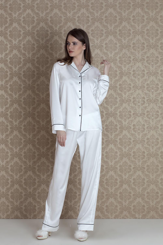Hays Hera Kadın Saten 2li Uzun Pijama Takımı