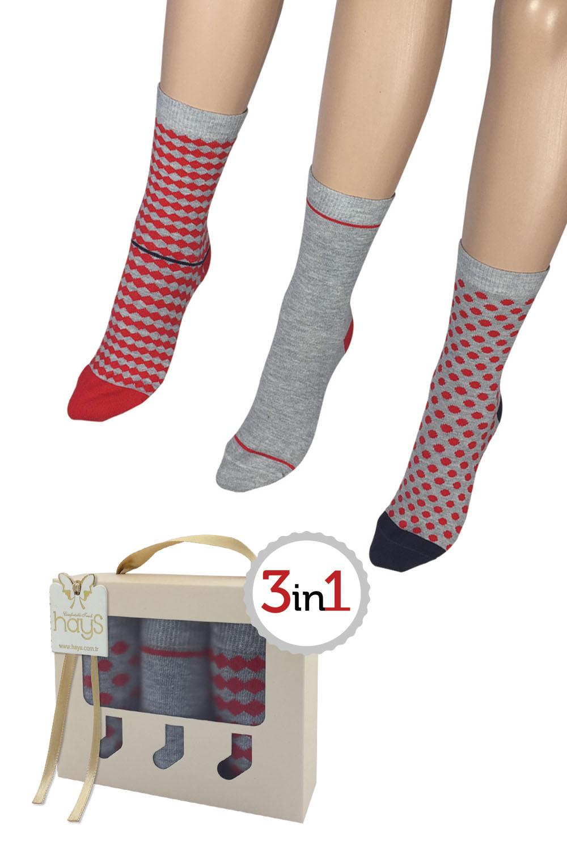 Hays Mona 3lü Kutulu Çorap