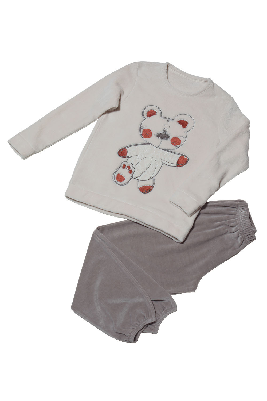 Hays Kids Kız Çocuk Kadife 2li Pijama Takımı