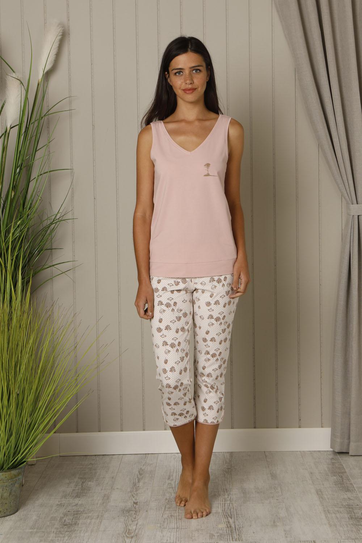 Hays Huma Kadın Kolsuz Üst Penye Midi Pijama Takımı