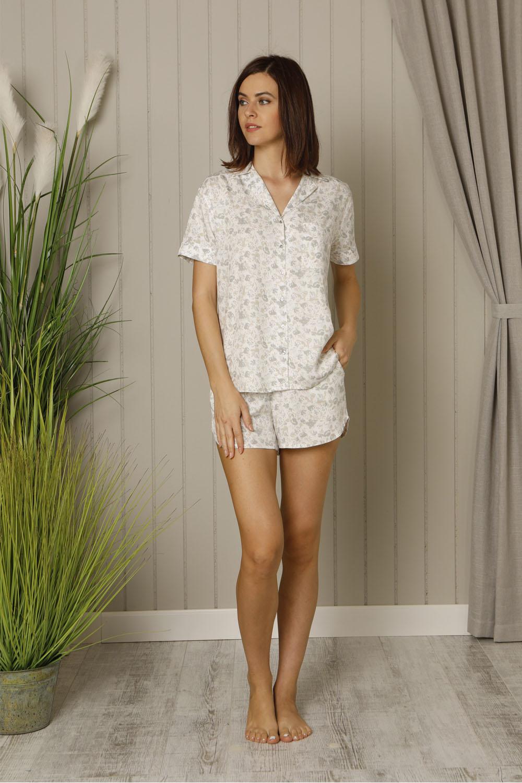Hays Floral Kadın Baskılı Dokuma Şortlu Pijama Takımı