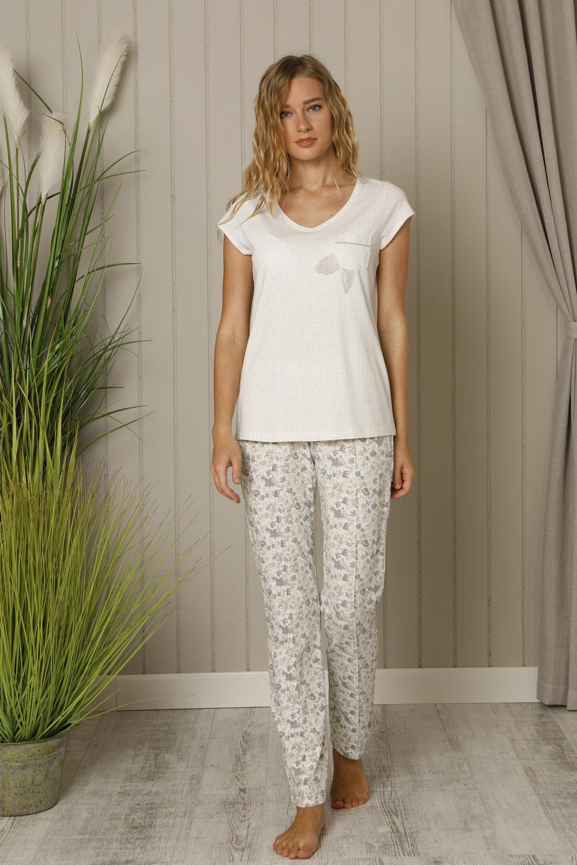 Hays Floral Kadın Baskılı Uzun Penye Pijama Takımı