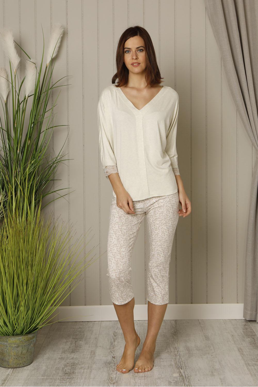 Hays Leora Kadın Yarım Kollu Üst Penye Midi Pijama Takımı