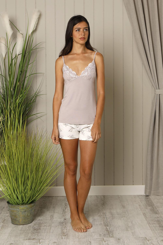 Hays Liliana İp Askılı Penye Şortlu Pijama Takımı