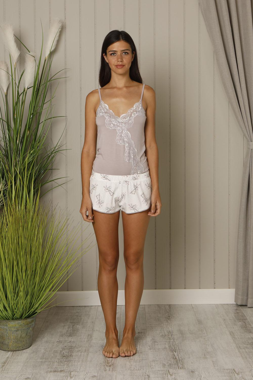 Hays Liliana Kadın Penye Çıtlıtlı Body Şortlu Pijama Takımı