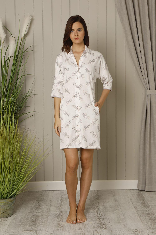 Hays Liliana Kadın Gömlek Yakalı Yarım Kollu Gecelik
