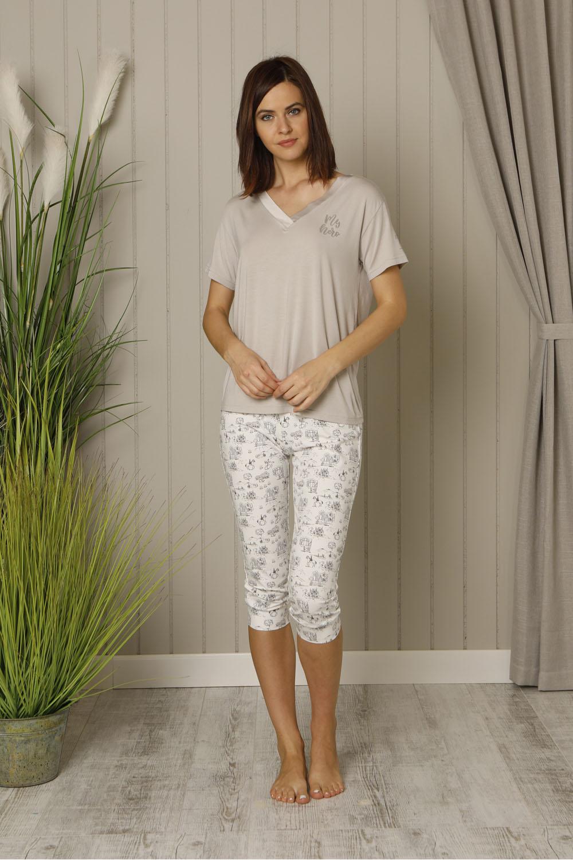 Hays Salva Kadın Kapri Penye Pijama Takımı