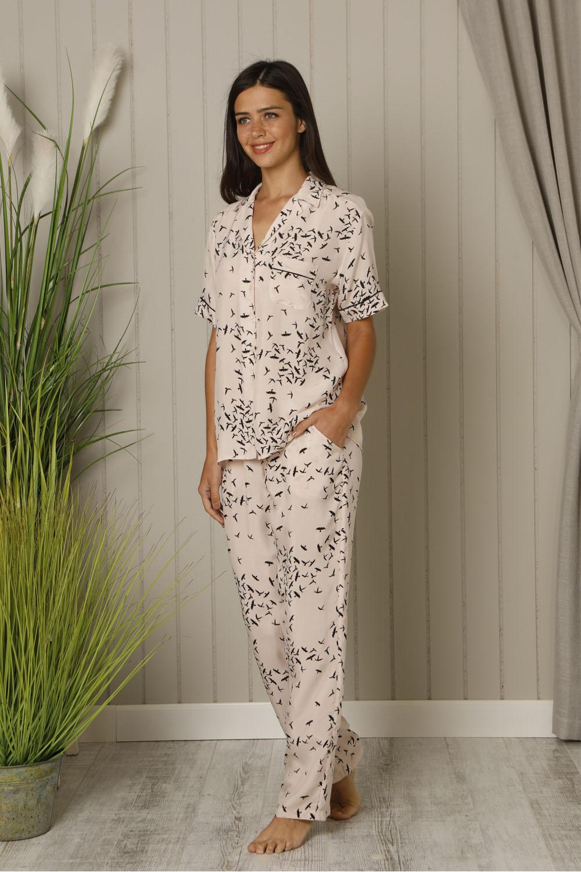 Hays Huma Vegan Kadın Cupro Kısa Kollu Pijama Takımı