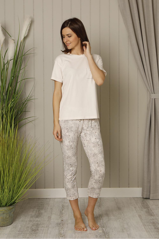 Hays Deva Kadın Kısa Kollu Üst Midi Pijama Takımı