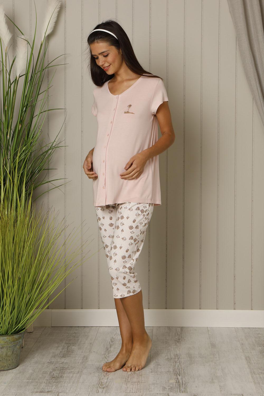 Hays Mom Kadın Kısa Kollu Penye Midi Pijama Takımı