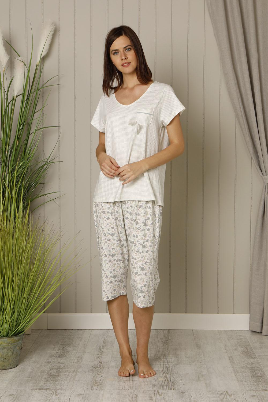 Hays Plus Size Penye Kapri Pijama Takımı
