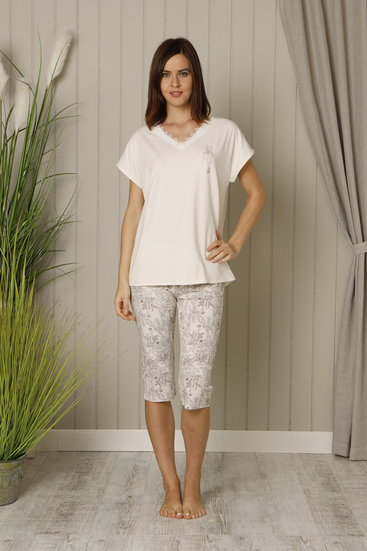 Hays Deva Plus Size Kadın Kapri Pijama Takımı