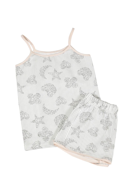 Hays Kız Çocuk Alt Üst Baskılı İp Askılı Şortlu Pijama Takımı