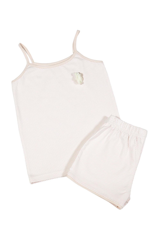 Hays Kız Çocuk Alt Üst Puan Baskılı İp Askılı Şortlu Pijama Takımı