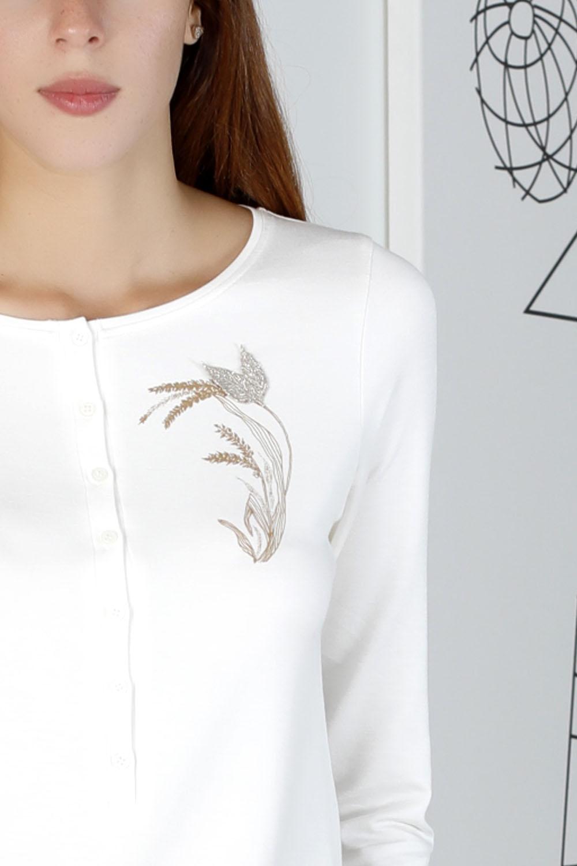 Hays Sensible Kadın Düğmeli Uzun Pijama Takımı