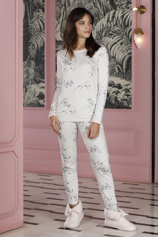 Hays Poet Kadın Baskılı 2li Uzun Pijama Takımı