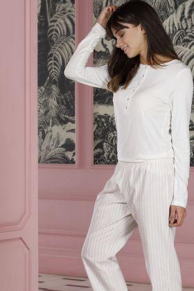 Hays Poet Kadın Üst Modal Alt Dokuma 2li Pijama Takımı