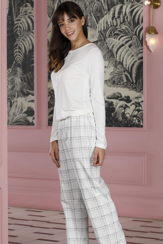 Hays Poet Kadın Üst Modal Alt Dokuma Pijama Takımı