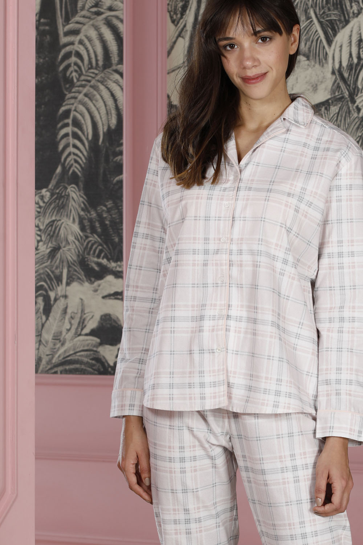 Hays Poet Kadın Gömlek Yaka Detaylı Alt Üst Dokuma 2li Pijama Takımı