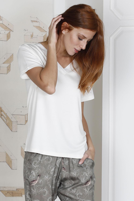 Hays Glamour Kadın Üst Penye Alt Cupro Pijama Takımı