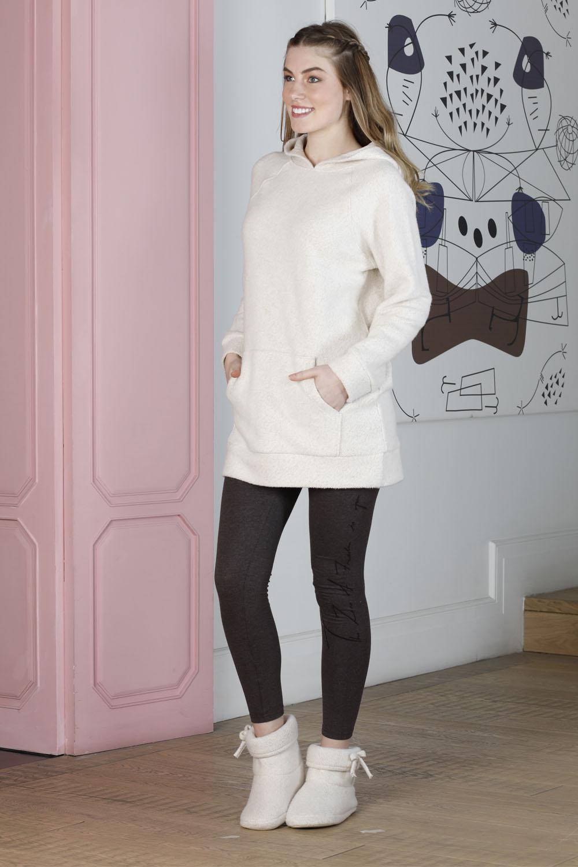 Hays Artisan Kadın Üst Kalın Triko Alt Penye Taytlı Pijama Takımı