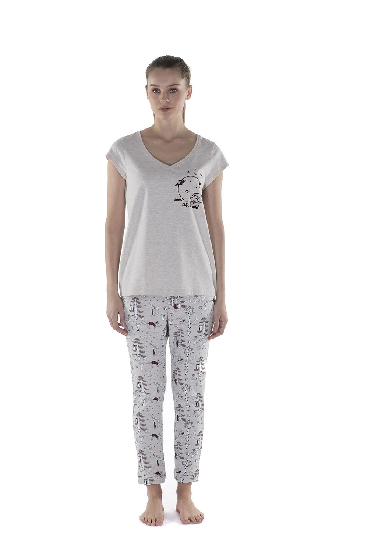 Hays Save Kadın Penye Midi Pijama Takımı
