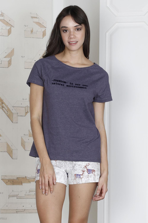 Hays U.D.A.W Kadın Baskılı Penye Şortlu Pijama Takımı