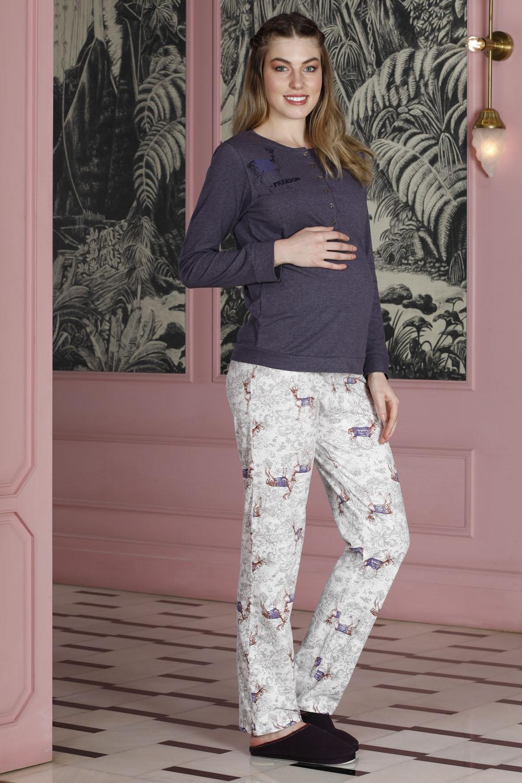 Hays Mom Penye 2li Uzun Pijama Takımı
