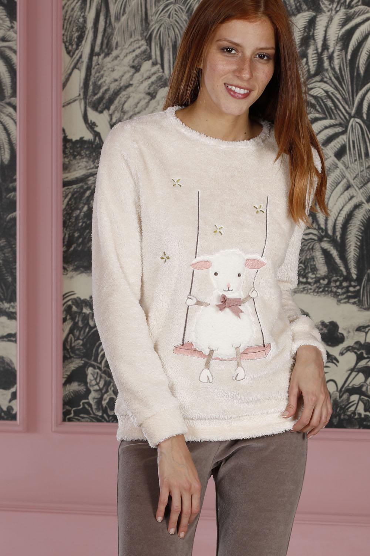 Hays Homewell Kadın Üst Wellsoft Alt Kadife 2li Uzun Pijama Takımı