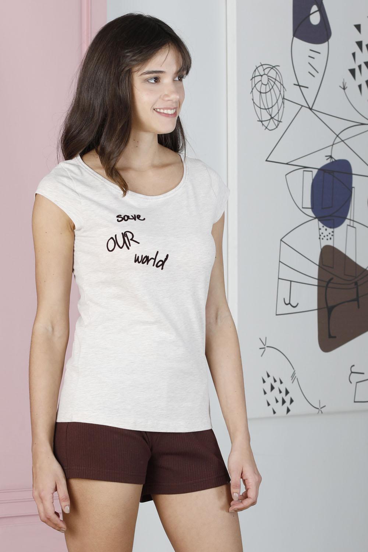 Hays Save Kadın Penye Şortlu Pijama Takımı