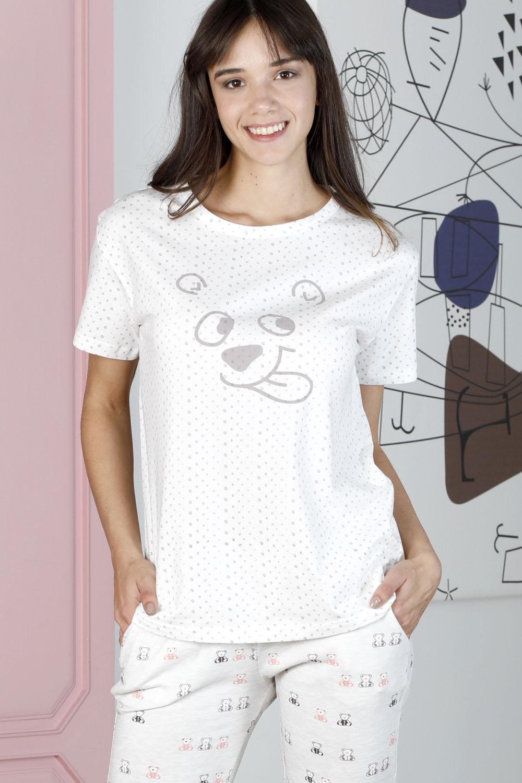 Hays Friendly Kadın Puan Baskılı Penye Kapri Pijama Takımı