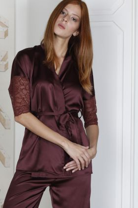 Hays Glamour Saten Kadın Dantel Detaylı 2li Pijama Takımı